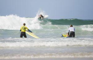 Surfing Porthmeor Beach St Ives
