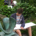 Sketching at the Barbara Hepworth Museum